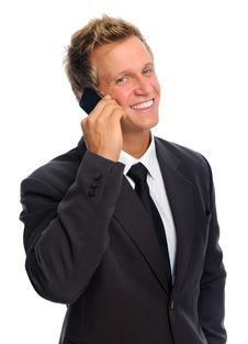 Free Happy Phone Man Stock Image - 20164141