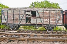 Old Wooden Railway Wagon Stock Photography