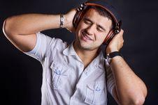 Free Handsome Boy With Headphones Stock Photos - 20164433