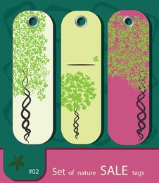 Set Of Retro Sale Nature Tags Royalty Free Stock Photography