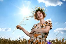Free Woman In Wheat Field Stock Photography - 20164652