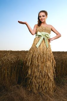 Free Woman In Wheat Field Stock Images - 20164664