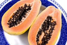Free Papaya Fruit Sliced Stock Images - 20165254