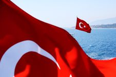 Free Image Of Two Turkish Flags Royalty Free Stock Photography - 20165937