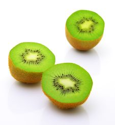 Free Image Of Sliced Kiwi Isolated On White Stock Images - 20166064