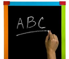 Free Abc Blackboard Royalty Free Stock Photo - 20166595