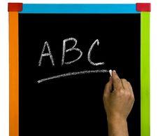 Abc Blackboard Royalty Free Stock Photo