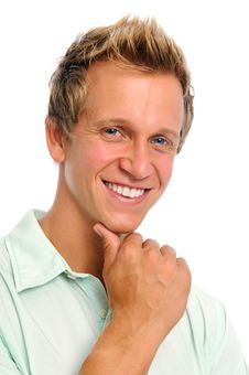 Free Confident White Male In Studio Royalty Free Stock Images - 20166789