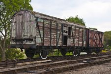 Free Broken Down Old Railway Wagons Stock Photo - 20167230