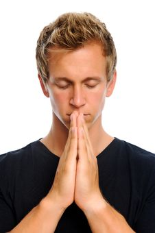 Free Man Praying Stock Images - 20167314