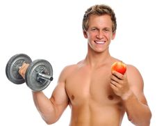 Exercise And Fruit Stock Images