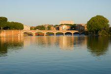 Free Scenery Of Garonne River And Pont(bridge) De Halag Stock Photos - 20168063