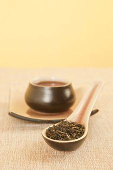 Free Black Tea On Spoon. Stock Image - 20168631