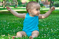 Free Baby Holding A Flower Stock Image - 20176381