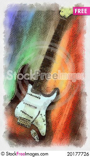 Free Electric Guitar Royalty Free Stock Image - 20177726