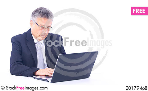 Free Senior Business Man Working Royalty Free Stock Photos - 20179468