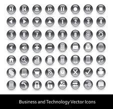 Free Icons For Web, Business And Technology Royalty Free Stock Images - 20170249