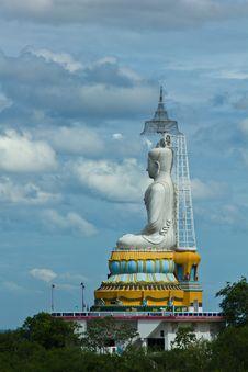 Big Statue Image Of Buddha At Wat Nong Hoy Stock Image