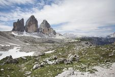 Free Italian Dolomites - Tre Cime, Mountain Landscape Royalty Free Stock Photo - 20171205