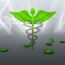 Symbol Of Medicine Stock Photo