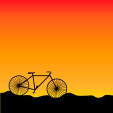 Free Bike In Sunset Stock Images - 20171714