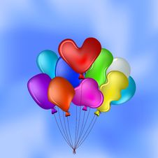 Free Balloons In The Blue Sky Royalty Free Stock Photos - 20172208