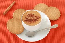 Free A Cup Of Coffee With Cinnamon Stock Images - 20173204
