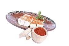Free Bulgarian White Cheese Into A Plate Isolated Royalty Free Stock Photos - 20173278