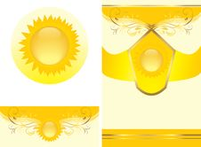 Free Floral Ornament With Sun. Decorative Elements Royalty Free Stock Photos - 20175118
