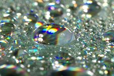Shiny Colorful Drops Of Water Royalty Free Stock Photo