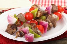 Beef Kabobs Royalty Free Stock Photos