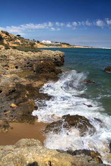 Free Albufeira Coastline Royalty Free Stock Photos - 20175288