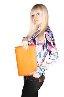 Free Woman With Folder Stock Photo - 20175870