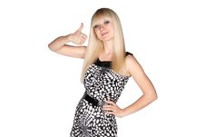 Free Girl Showing Thumb Up Royalty Free Stock Photo - 20175905