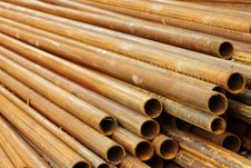 Free Pipes Stack Round Cut Royalty Free Stock Photo - 20176095