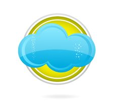 Free Cloud Blue Color On The Yellow Circle Stock Images - 20176164