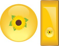 Free Yellow Buttons With Sunflower Stock Photography - 20176172