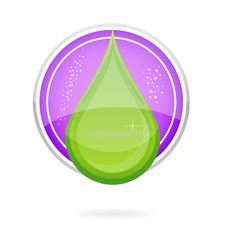 Energy Nature Drop Sign Eco Green Color Stock Image