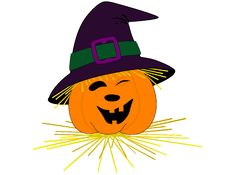Smiling Pumpkin Face With A Hat Royalty Free Stock Images