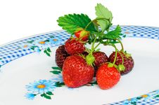 Free Bush Of Strawberry Lying On Plate Royalty Free Stock Photos - 20177778