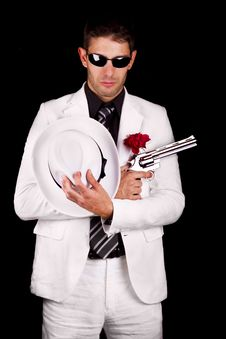 Free White Suit Gangster Royalty Free Stock Photos - 20179018