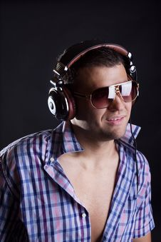 Free Handsome Man With Headphones Stock Image - 20179121