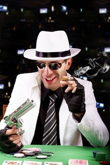 Free White Suit Gangster Stock Photography - 20179232