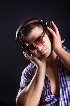Free Man Listening Music With Passion Royalty Free Stock Images - 20179299