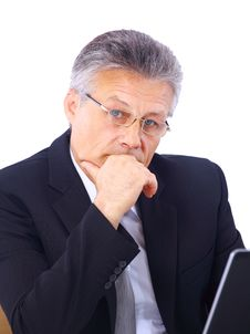 Senior Business Man Royalty Free Stock Photo