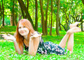 Free The Girl In The Woods Stock Photo - 20181870