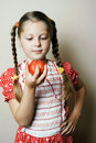 Free Girl With Tomato Stock Image - 20187411
