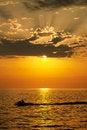 Free Sunset Jetski Stock Images - 20187564