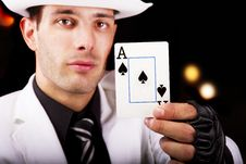 White Suit Man Stock Images
