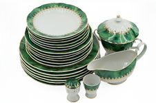 Free A Malachite Tableware Service Royalty Free Stock Photography - 20180417